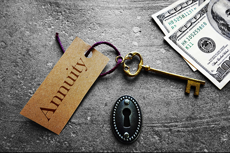 Annuities for Individuals image of key and money